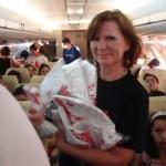 Z dziećmi na pokładzie samolotu prezydenckiego