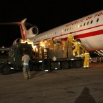 W dniu 21 stycznia o godz. 01.40 czasu lokalnego, po 15 godzinach lotu, 2 międzylądowaniach samolot TU-154m wylądował na lotnisku w Port-au-Prince. Na miejscu czekali na nas polscy ratownicy. Dzięki ich pomocy po ok. 2 godzinach samolot był rozładowany a towar złożony na przygotowanych dla tego celu obrzeżach lotniska.