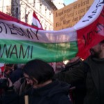 Wspólny marsz ulicami Budapesztu